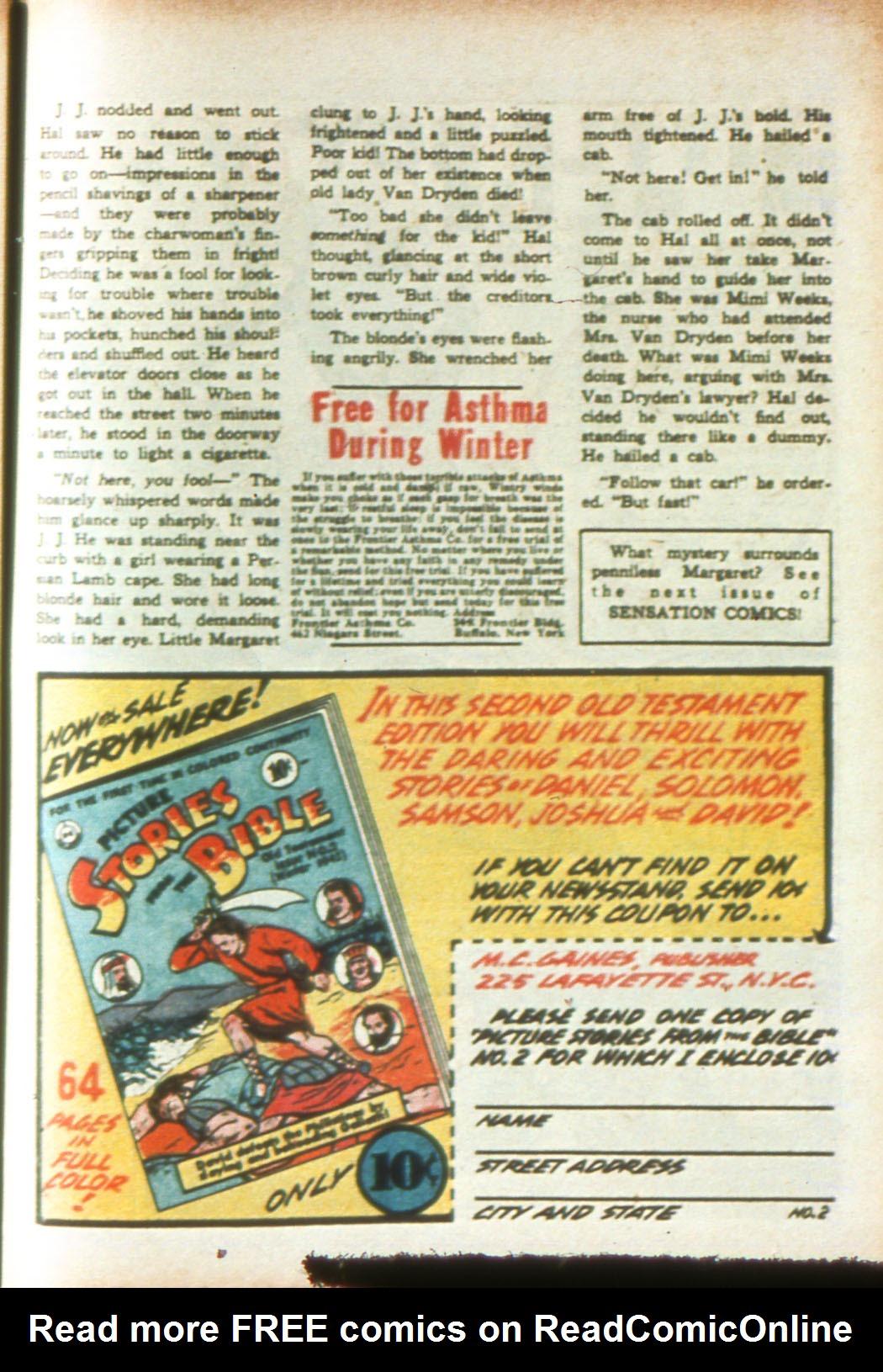 Read online Sensation (Mystery) Comics comic -  Issue #16 - 49