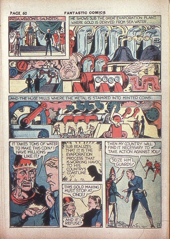 Read online Fantastic Comics comic -  Issue #4 - 61