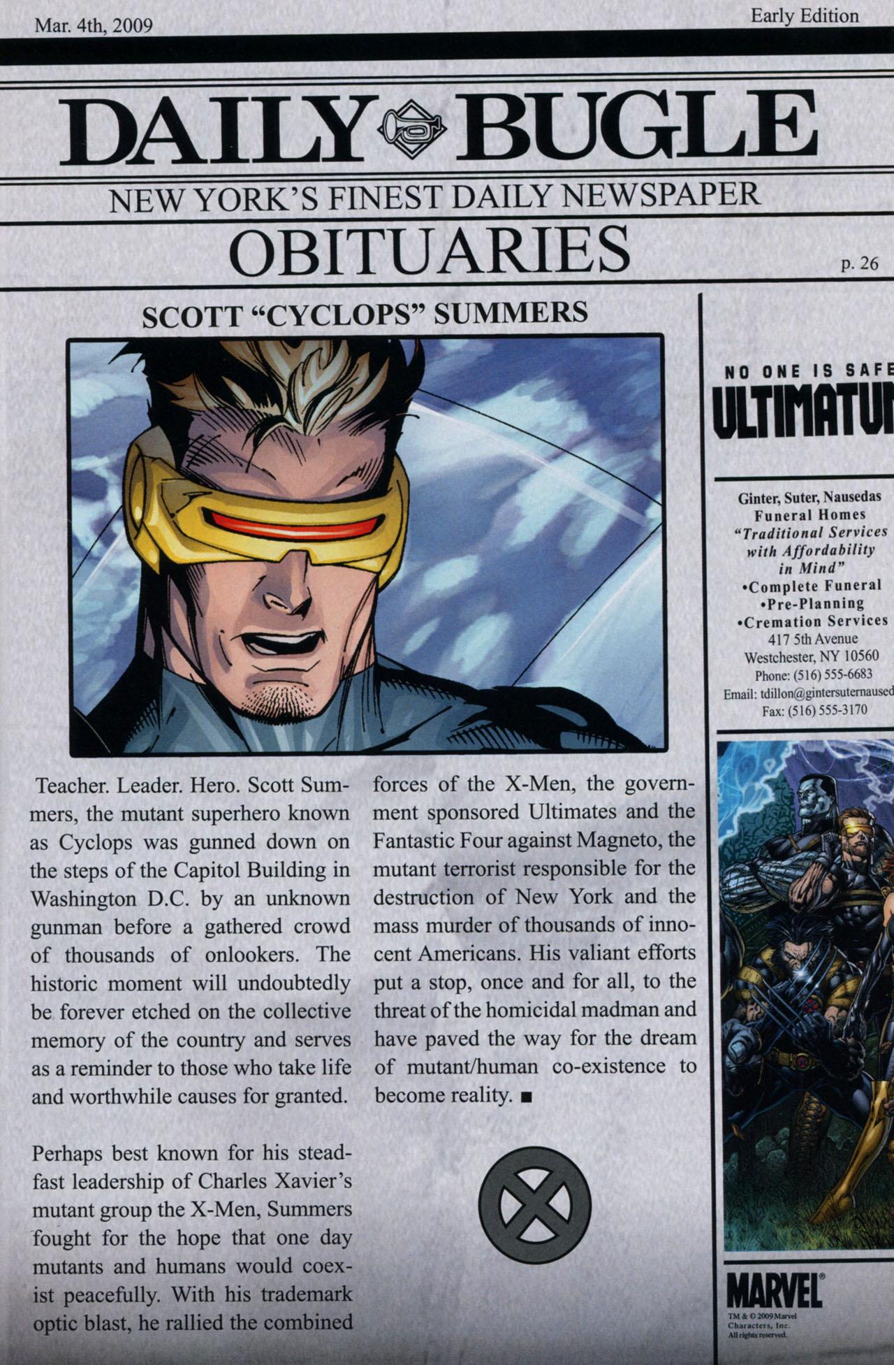 Read online Ultimatum: X-Men Requiem comic -  Issue # Full - 38