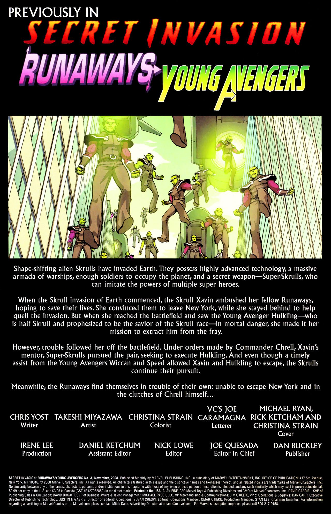 Read online Secret Invasion: Runaways/Young Avengers comic -  Issue #3 - 2