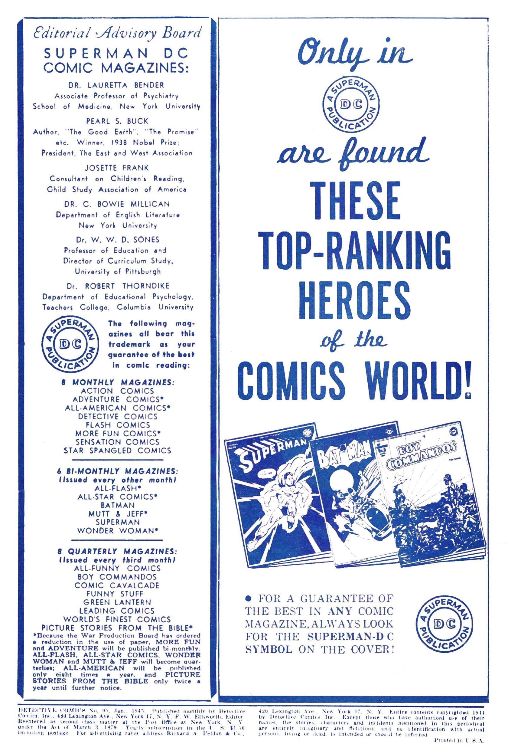 Read online Detective Comics (1937) comic -  Issue #95 - 2