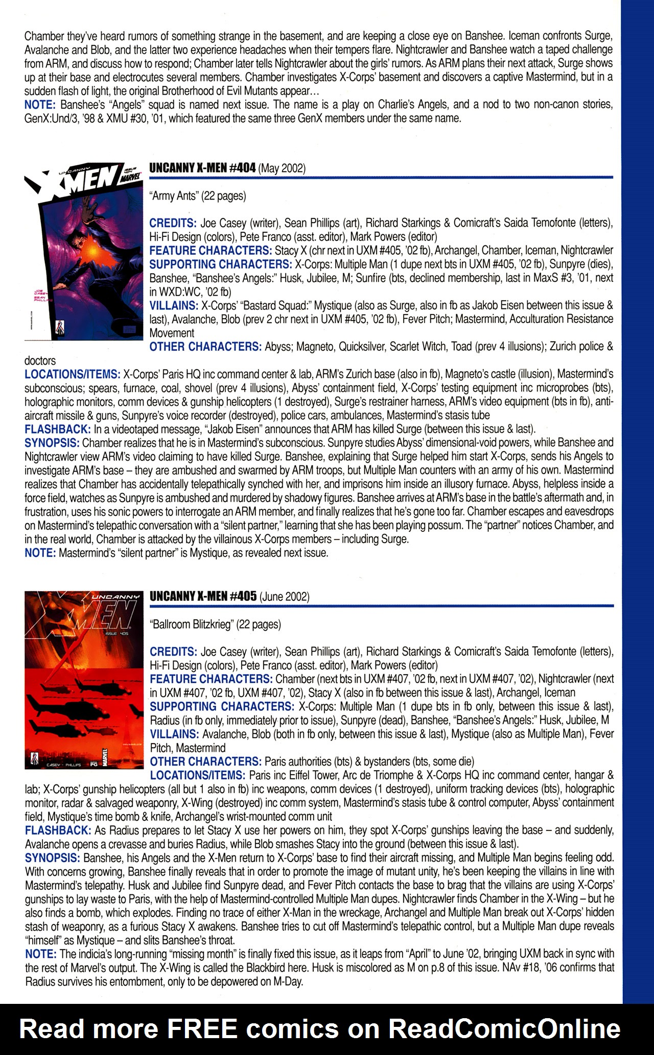 Read online Official Index to the Marvel Universe comic -  Issue #10 - 63