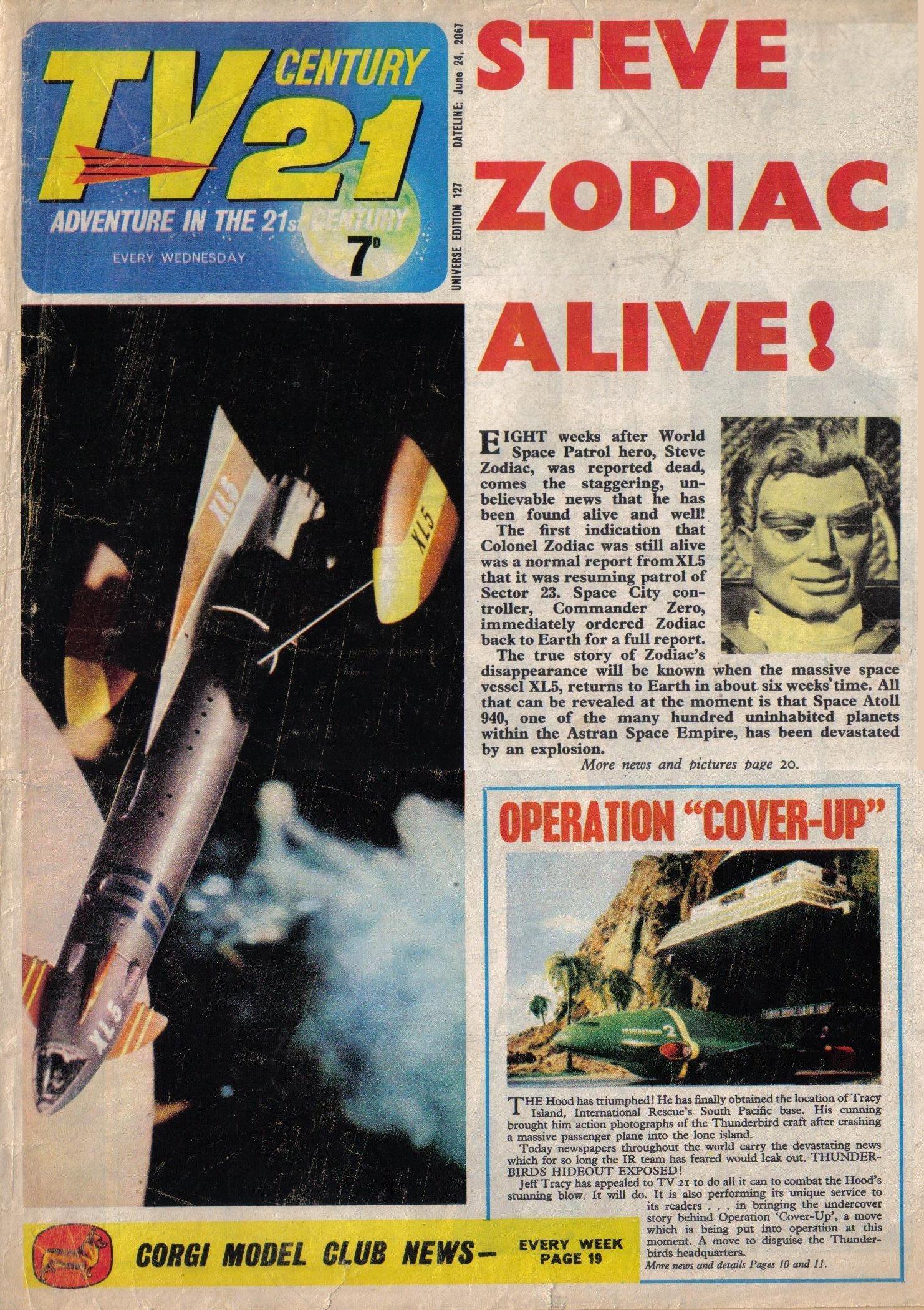 Read online TV Century 21 (TV 21) comic -  Issue #127 - 1