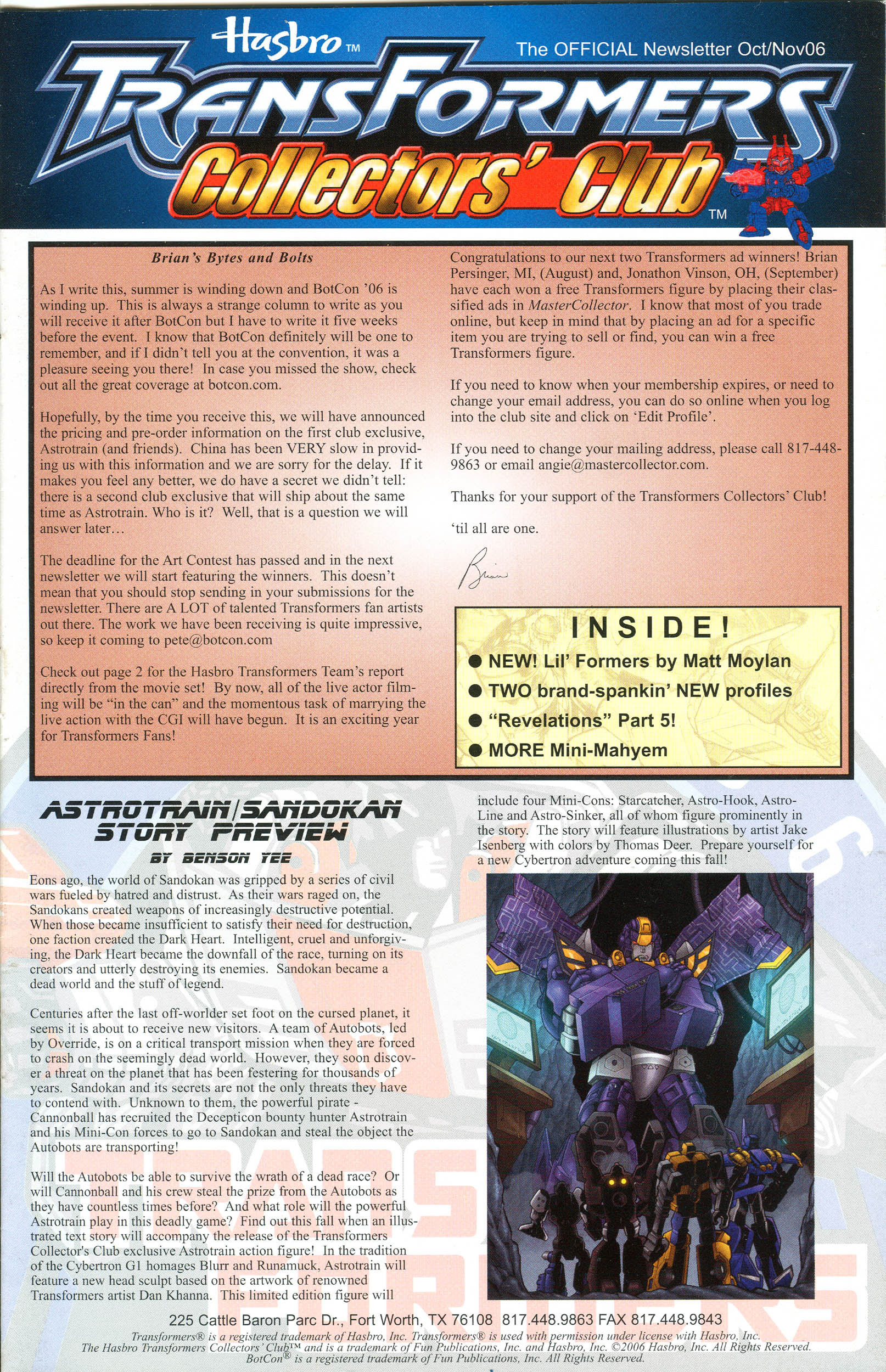 Read online Transformers: Collectors' Club comic -  Issue #11 - 1