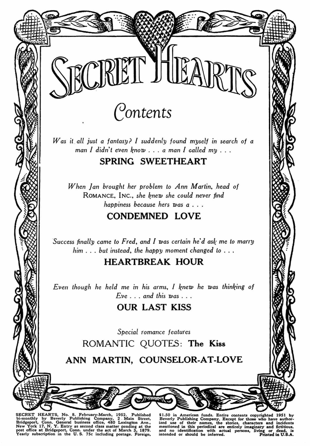 Read online Secret Hearts comic -  Issue #8 - 2