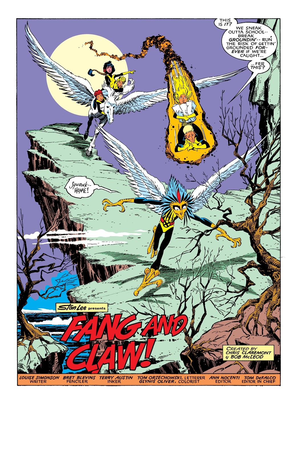 Read online X-Men Milestones: Fall of the Mutants comic -  Issue # TPB (Part 1) - 93