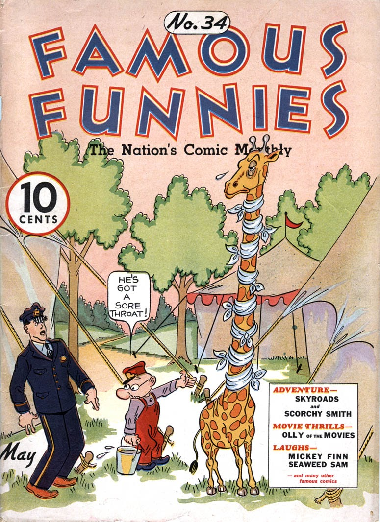 Read online Famous Funnies comic -  Issue #34 - 1