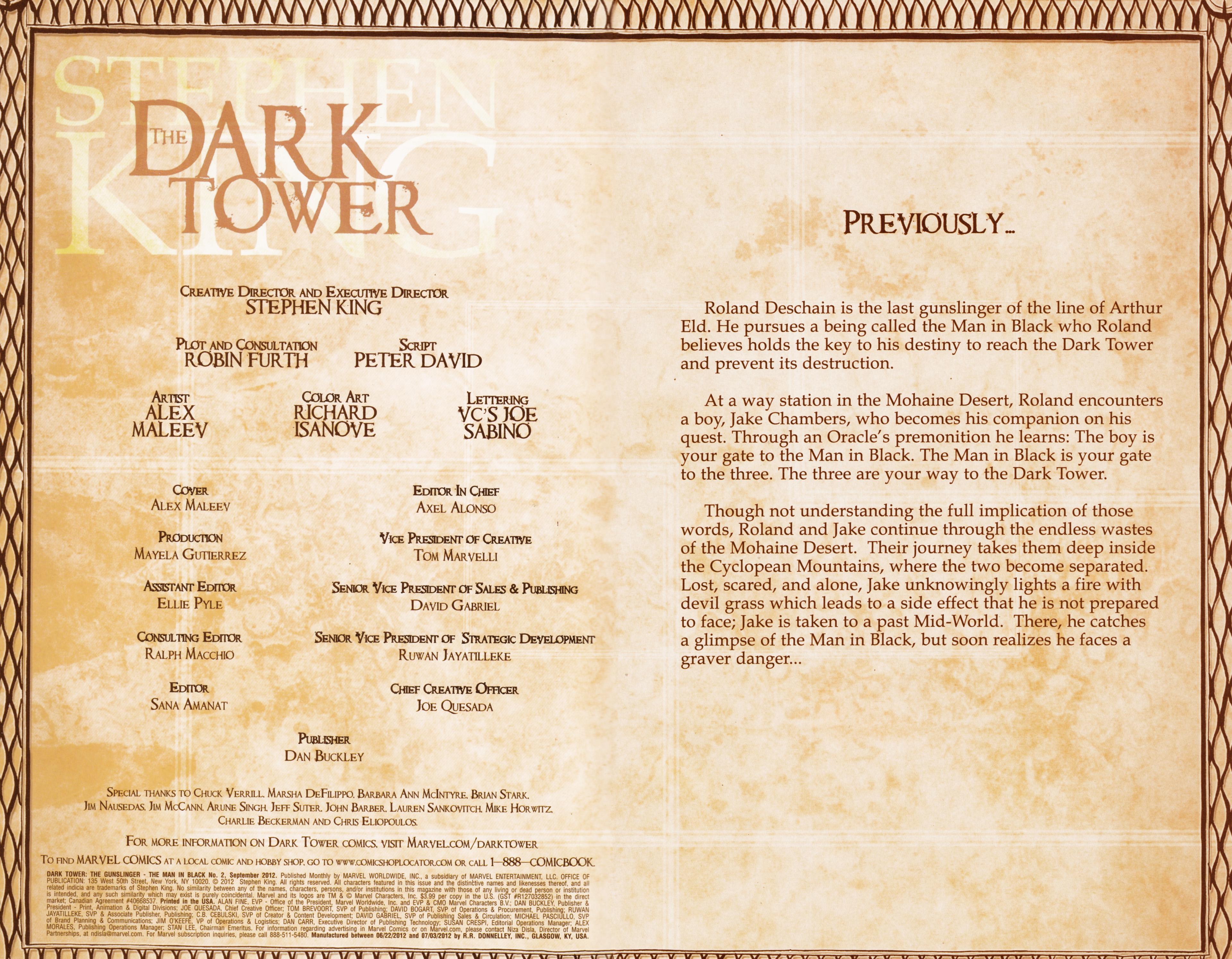 Read online Dark Tower: The Gunslinger - The Man in Black comic -  Issue #2 - 2