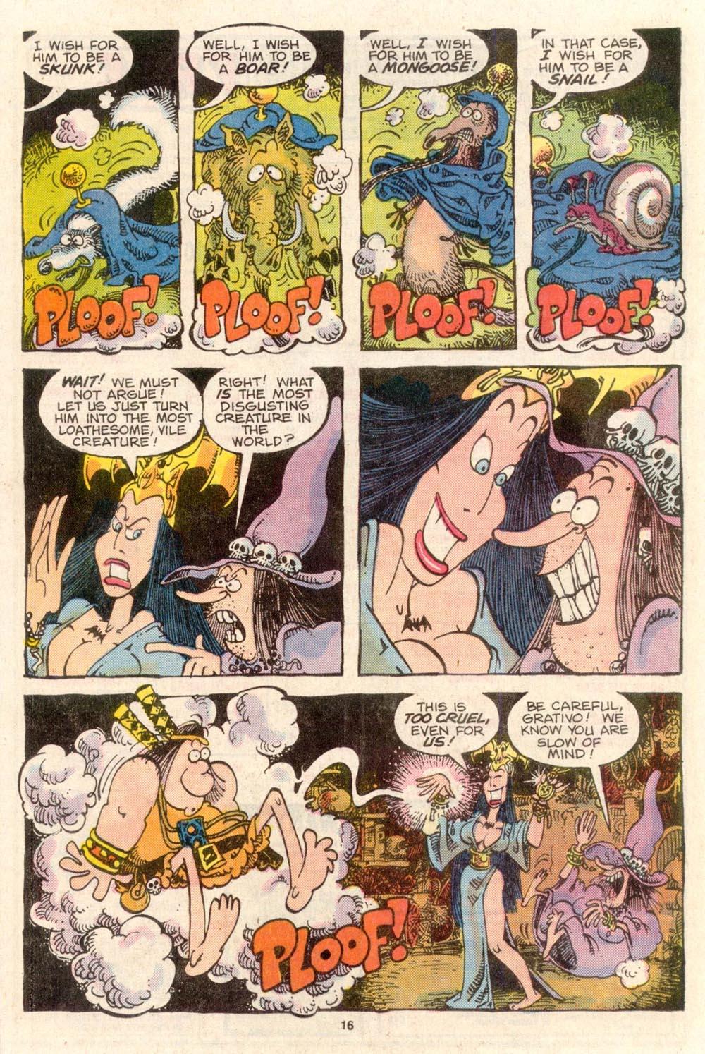 Read online Sergio Aragonés Groo the Wanderer comic -  Issue #36 - 16