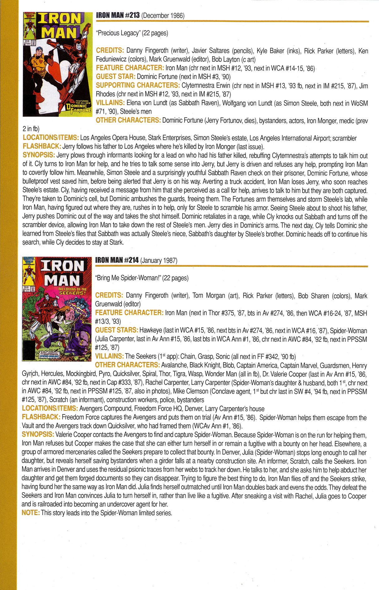 Read online Official Index to the Marvel Universe comic -  Issue #6 - 44