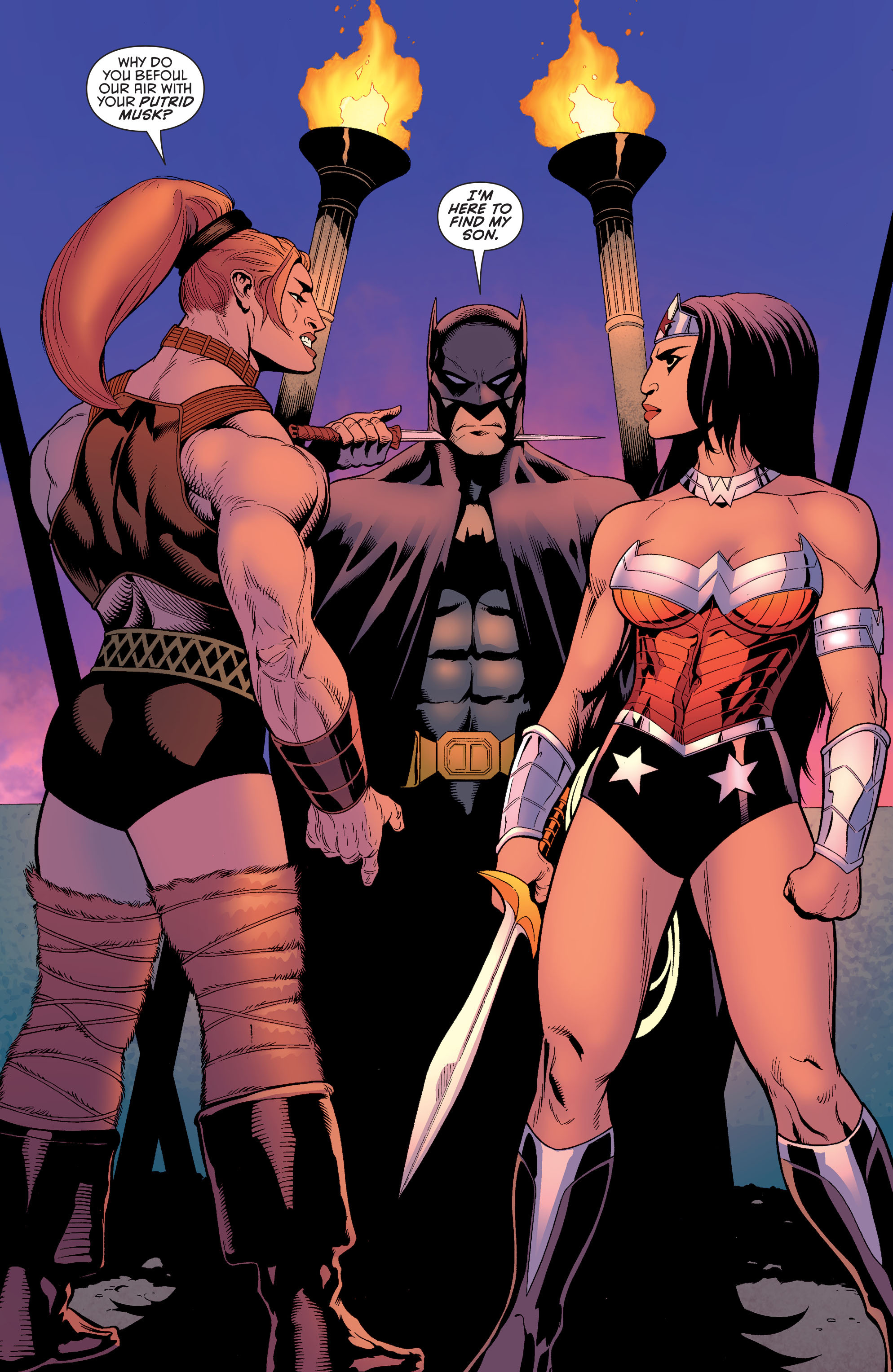 Read online Batman and Robin (2011) comic -  Issue #30 - Batman and Wonder Woman - 2