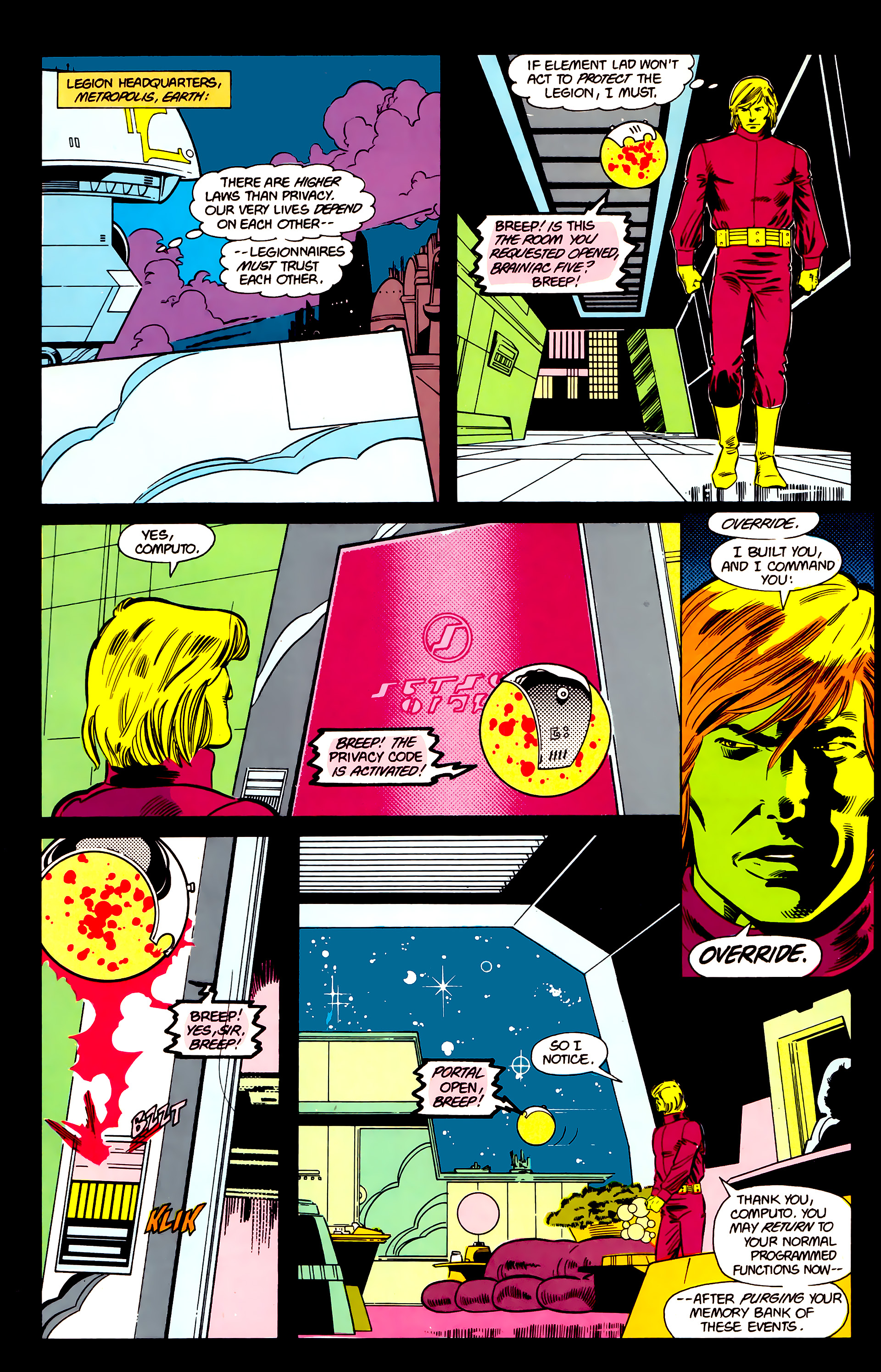 Legion of Super-Heroes (1984) 21 Page 8