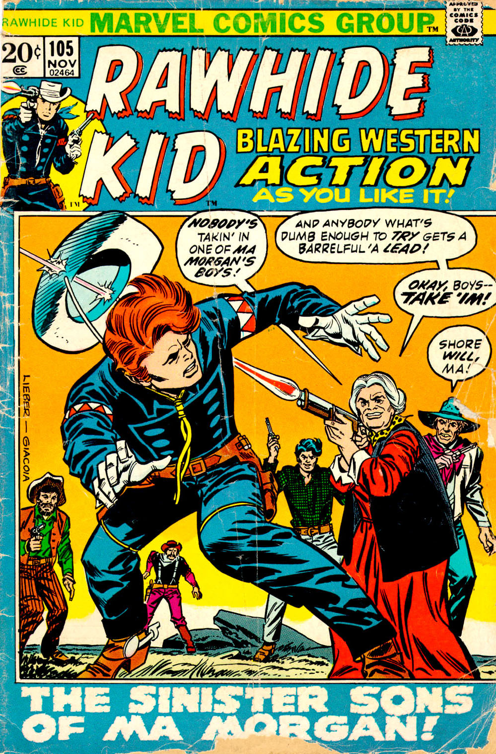 The Rawhide Kid (1955) issue 105 - Page 1