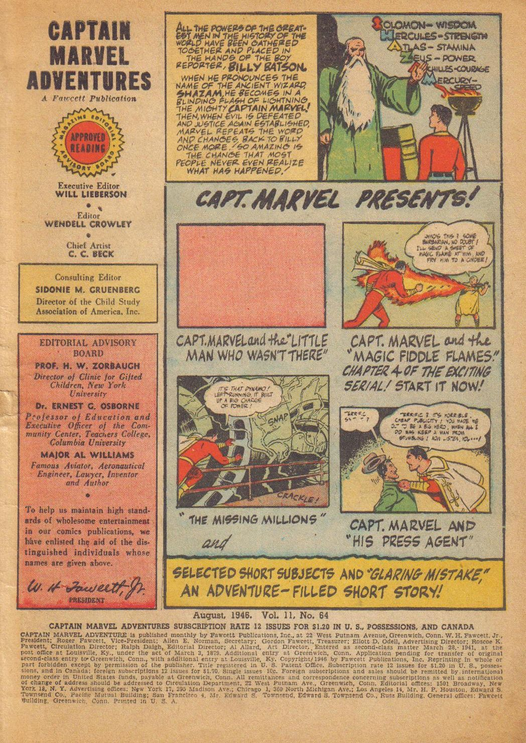 Captain Marvel Adventures issue 64 - Page 3