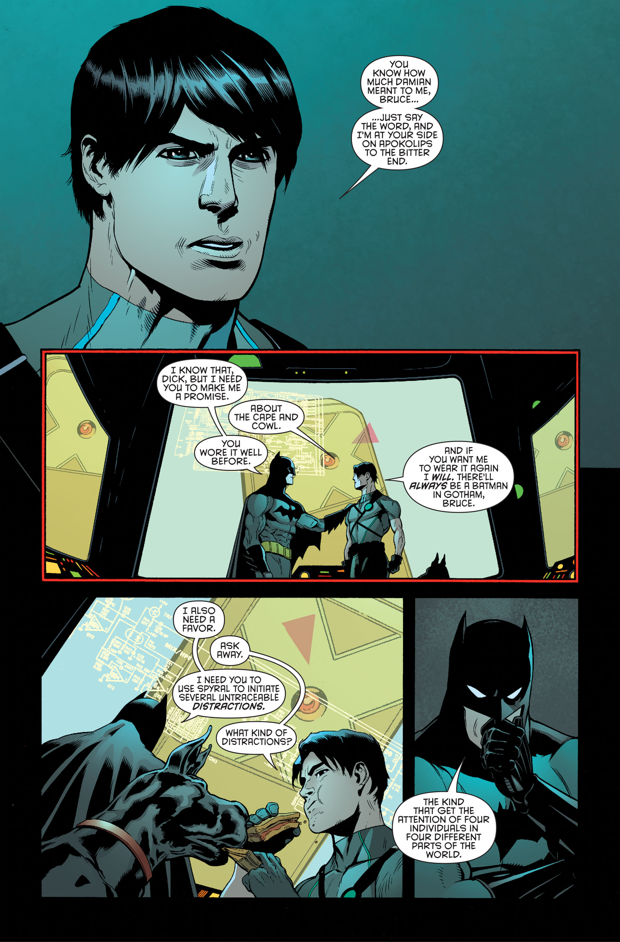Read online Batman and Robin (2011) comic -  Issue #34 - 14