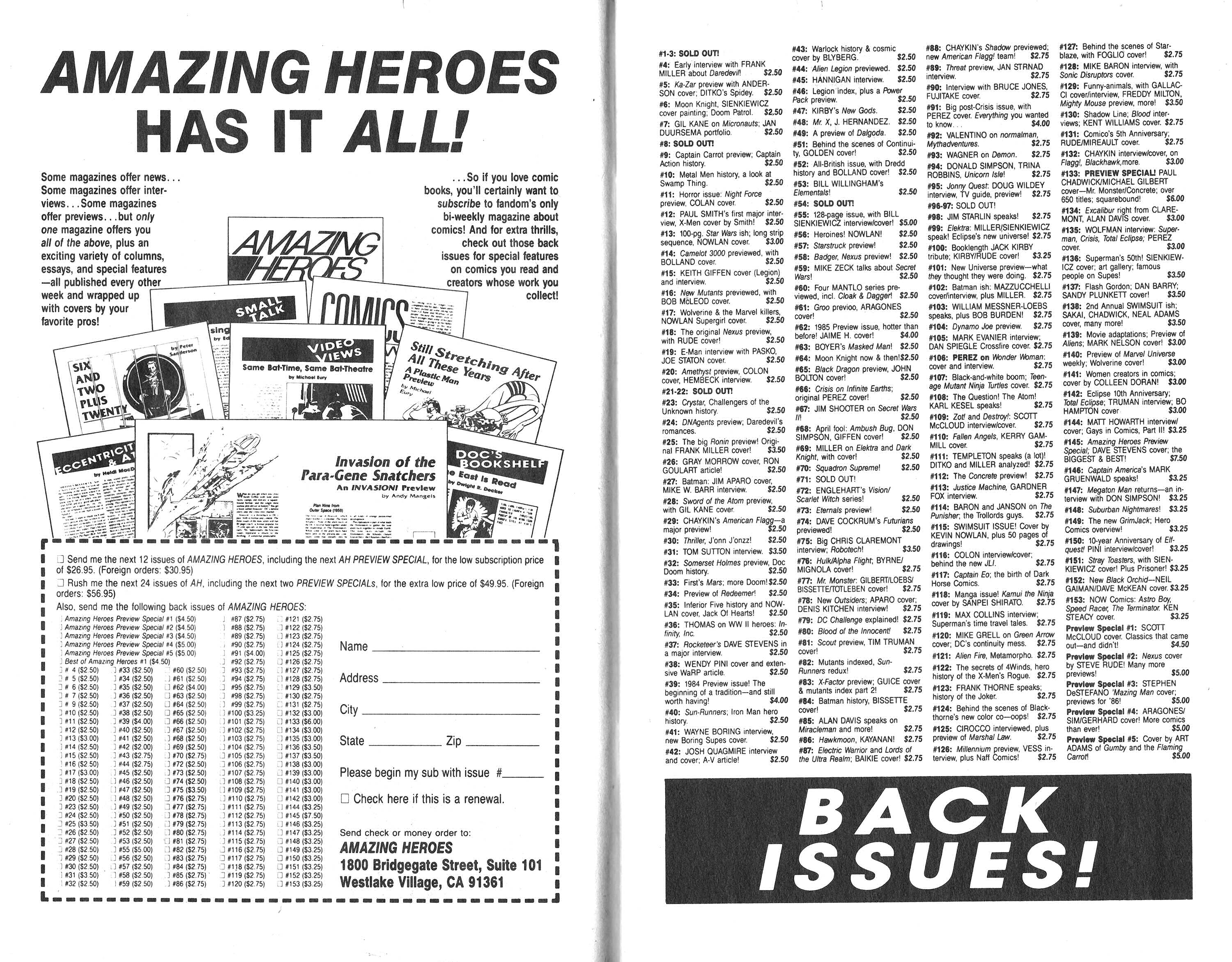 Read online Amazing Heroes comic -  Issue #166 - 8