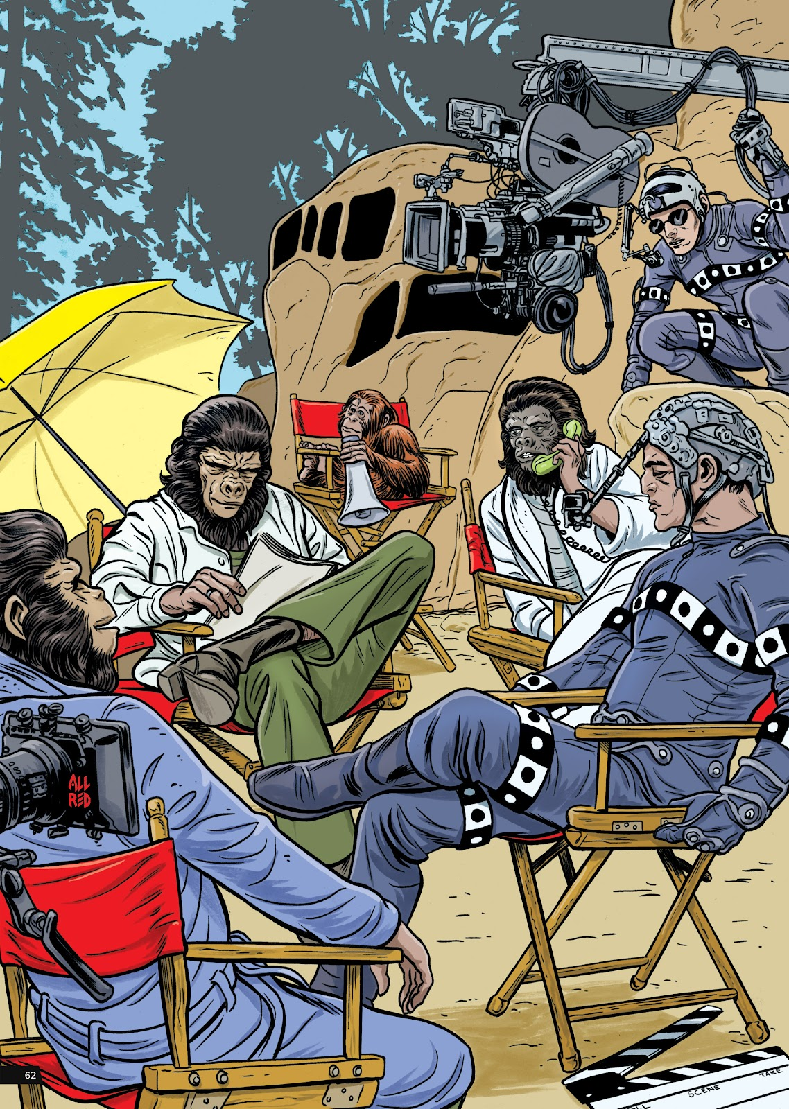 Read online Planet of the Apes Artist Tribute comic -  Issue # TPB - 62