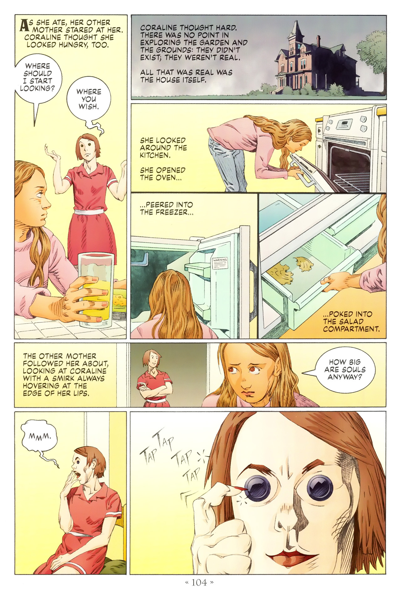 Read online Coraline comic -  Issue #1 - 110