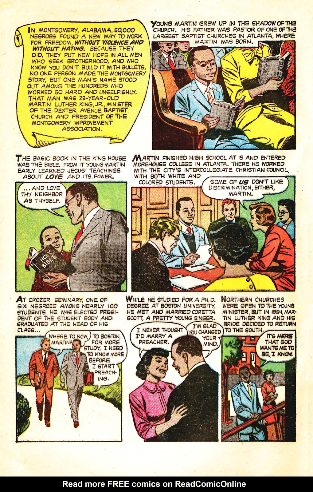 Read online Martin Luther King and the Montgomery Story comic -  Issue # Full - 2