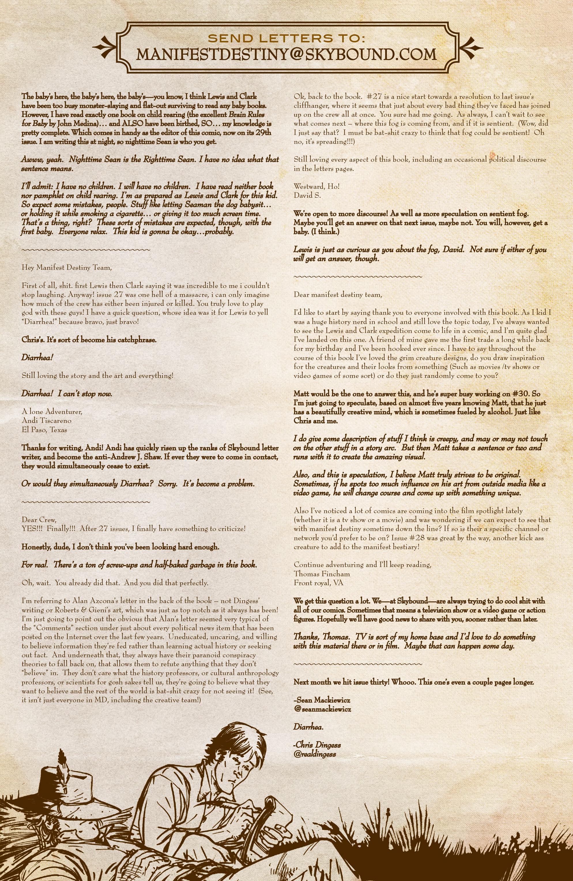 Read online Manifest Destiny comic -  Issue #29 - 23