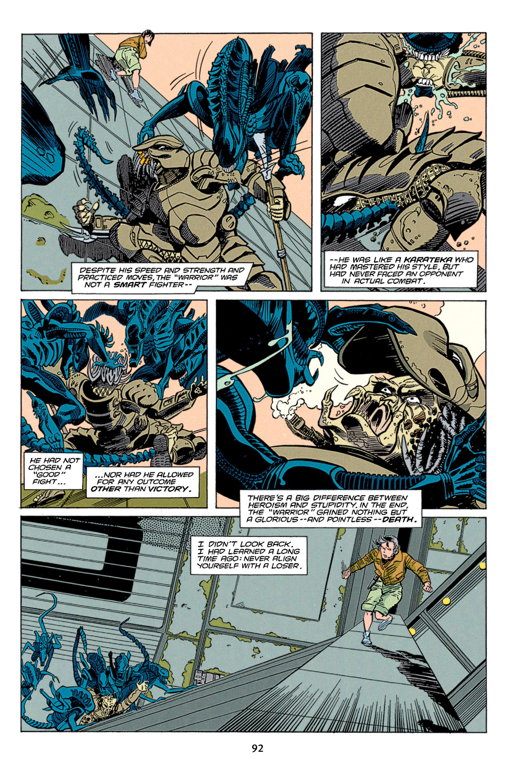 Read online Aliens vs. Predator Omnibus comic -  Issue # _TPB 1 Part 1 - 92