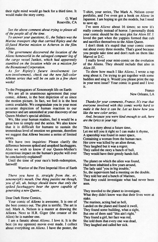 Read online Aliens (1988) comic -  Issue #6 - 31