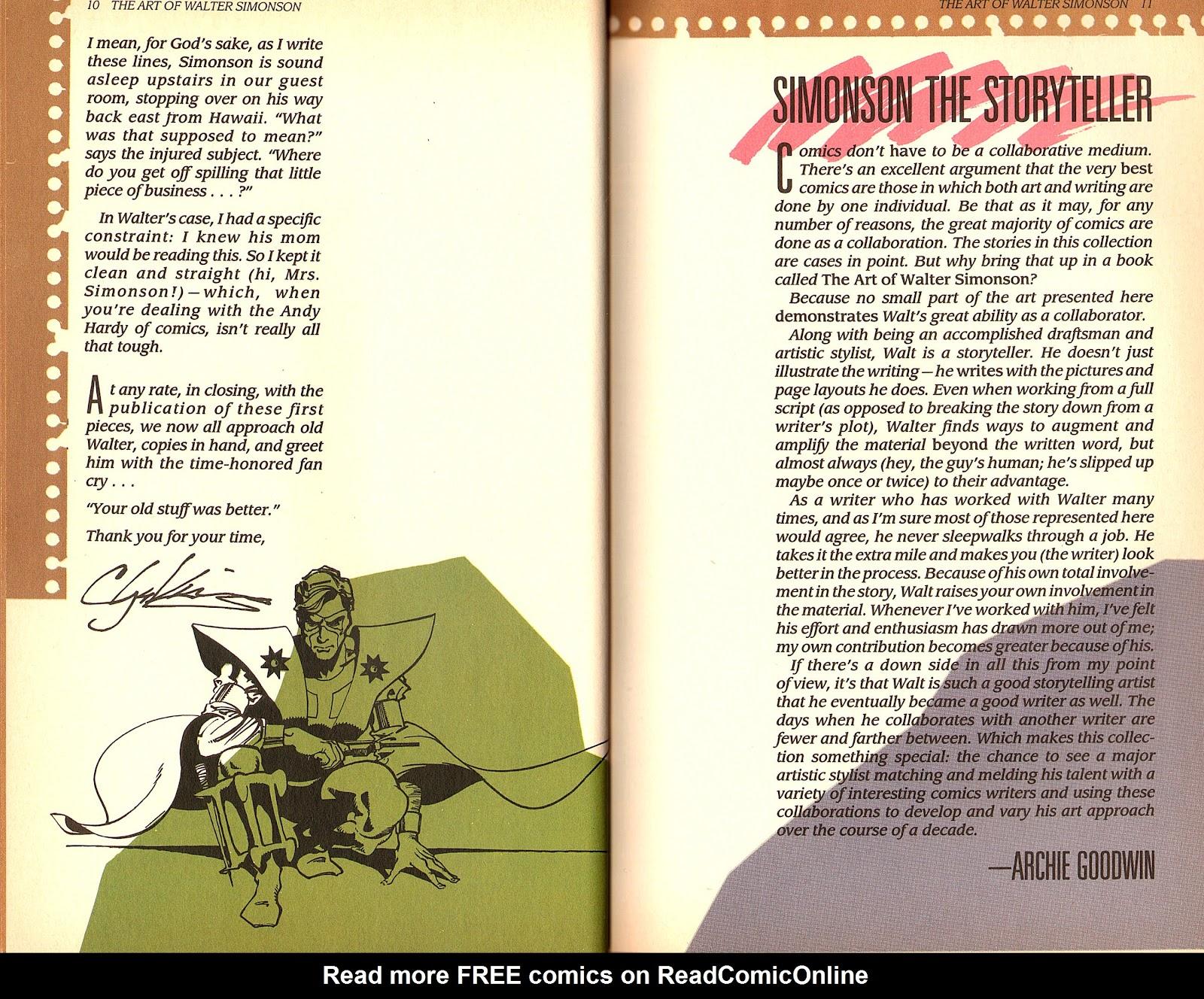 Read online The Art of Walter Simonson comic -  Issue # TPB - 7