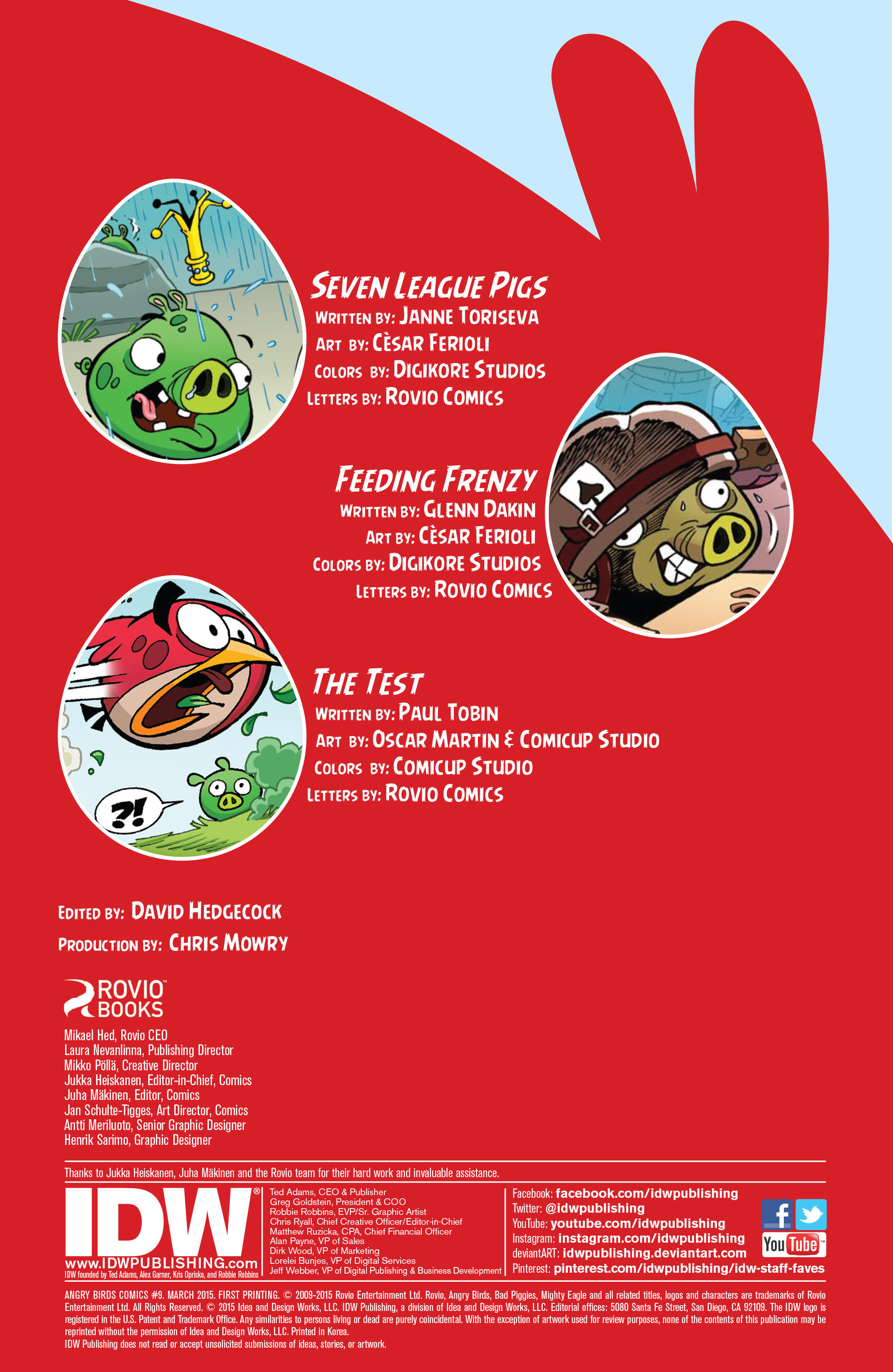 Read online Angry Birds Comics (2014) comic -  Issue #9 - 2