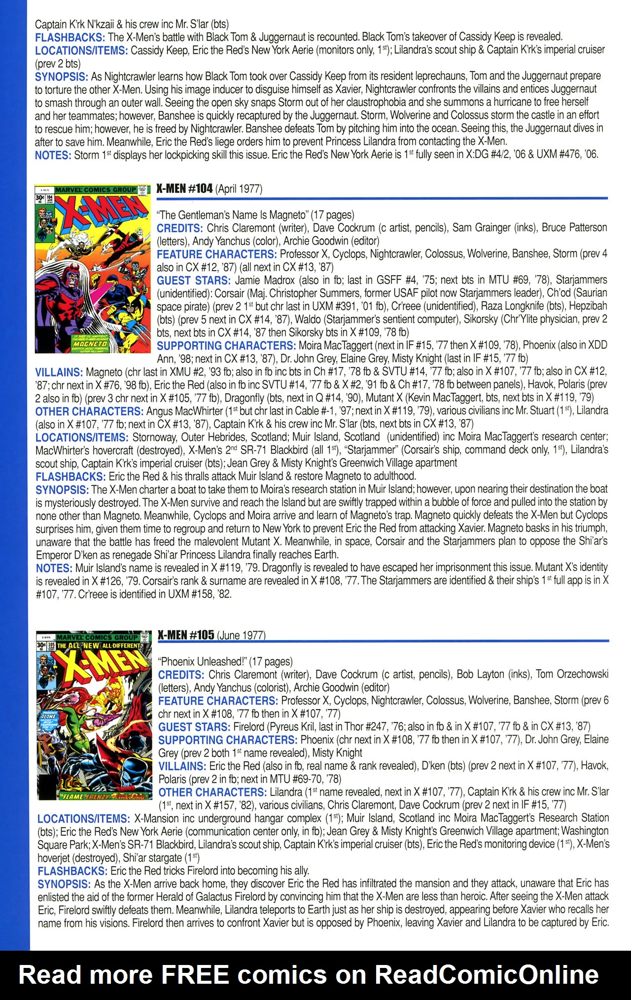 Read online Official Index to the Marvel Universe comic -  Issue #2 - 64