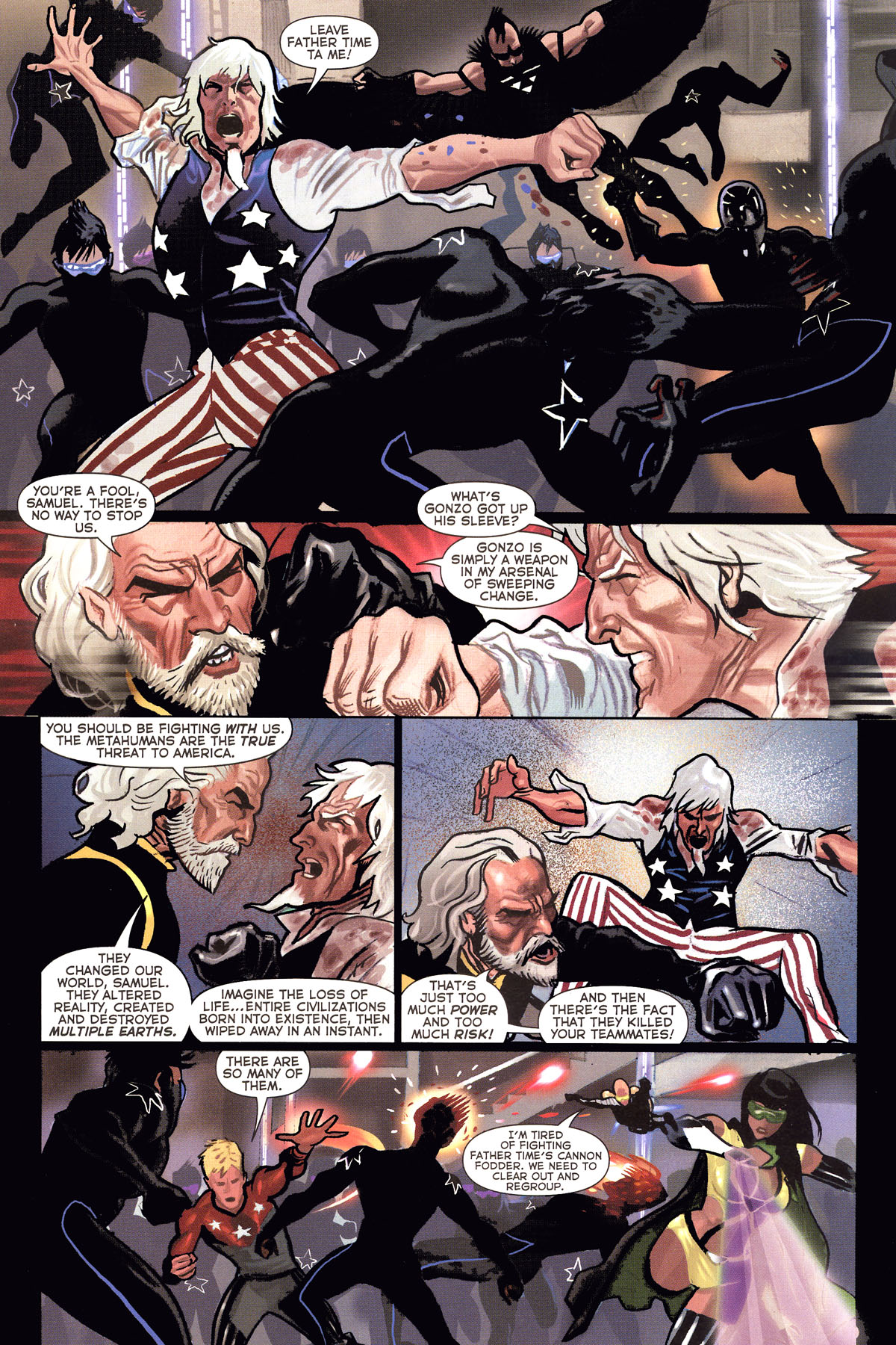 Read online Uncle Sam and the Freedom Fighters (2006) comic -  Issue #6 - 11