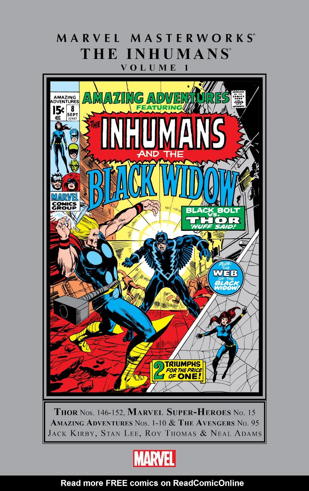 Read online Marvel Masterworks: The Inhumans comic -  Issue # TPB 1 (Part 1) - 1