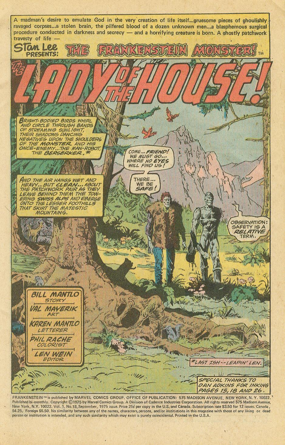 Frankenstein (1973) 18 Page 2