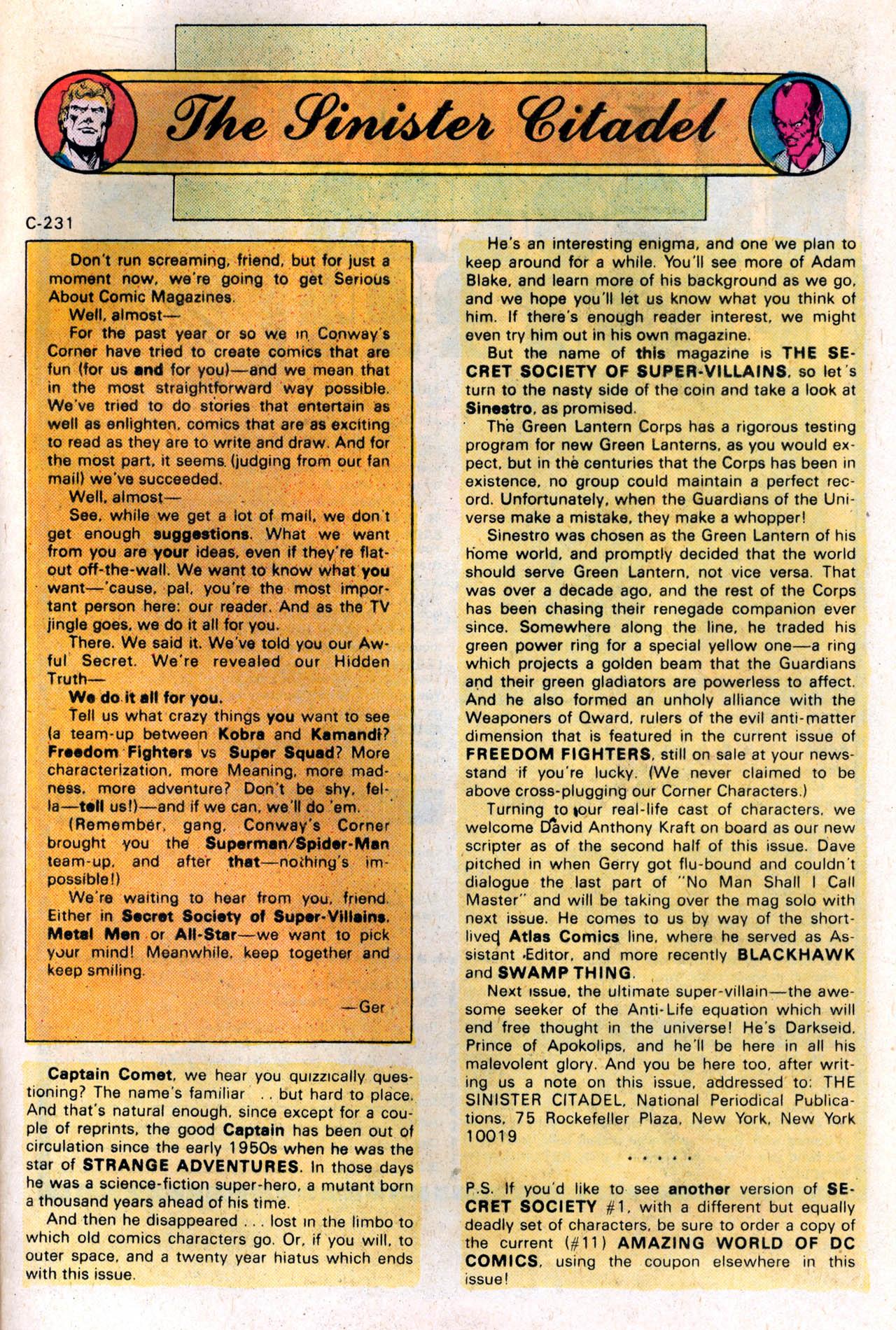 Read online Secret Society of Super-Villains comic -  Issue #2 - 33