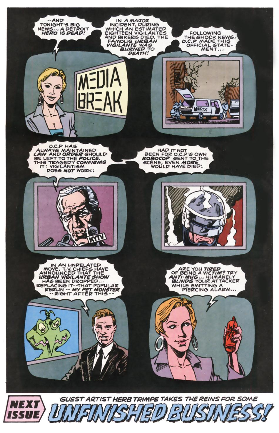 Read online Robocop (1990) comic -  Issue #10 - 23