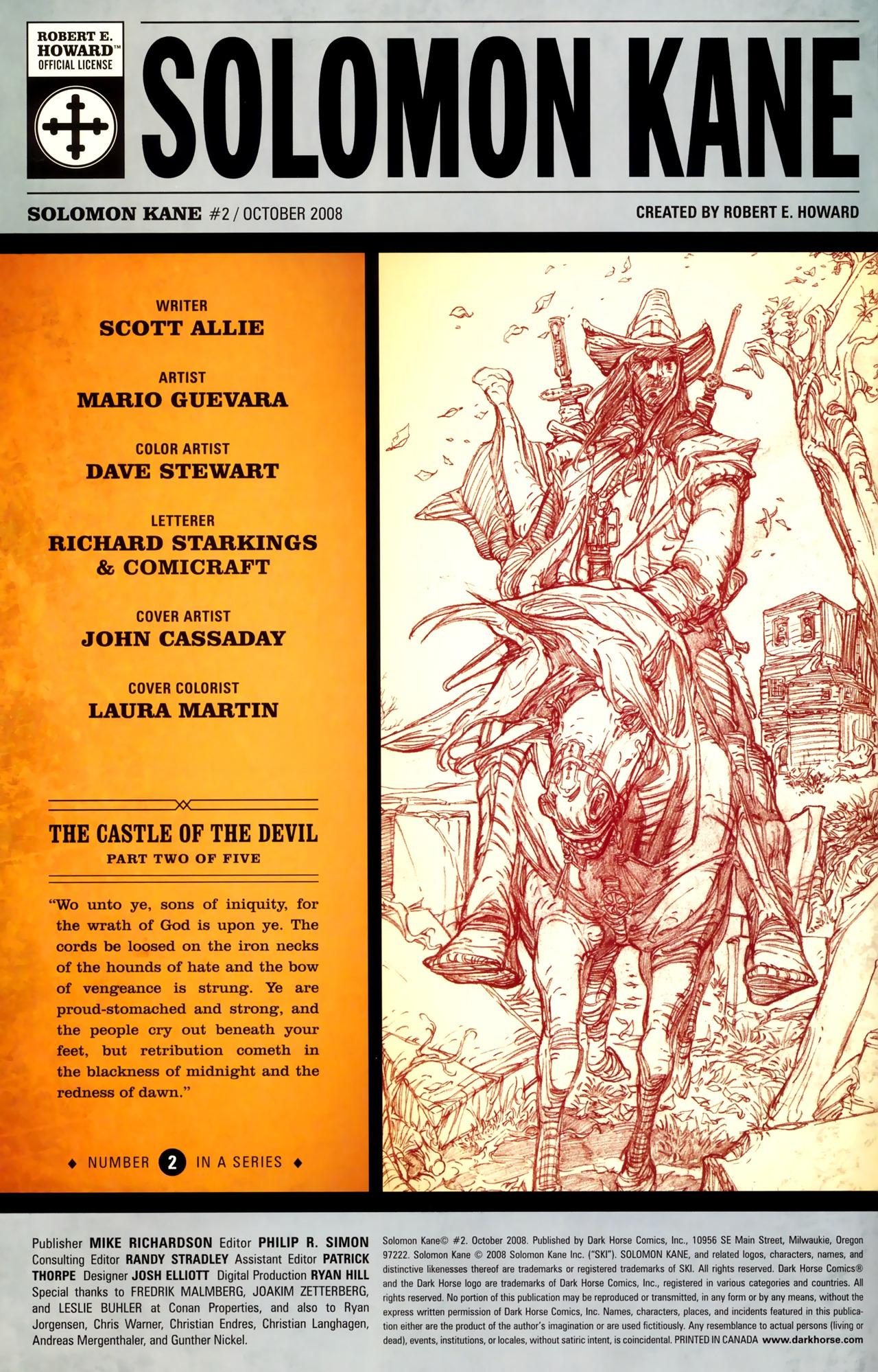 Read online Solomon Kane comic -  Issue #2 - 2