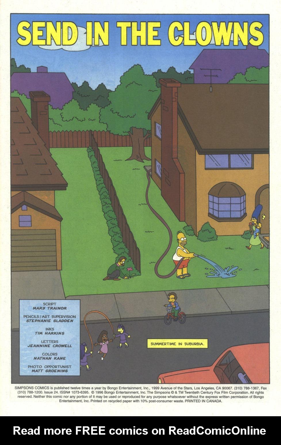 Read online Simpsons Comics comic -  Issue #24 - 2