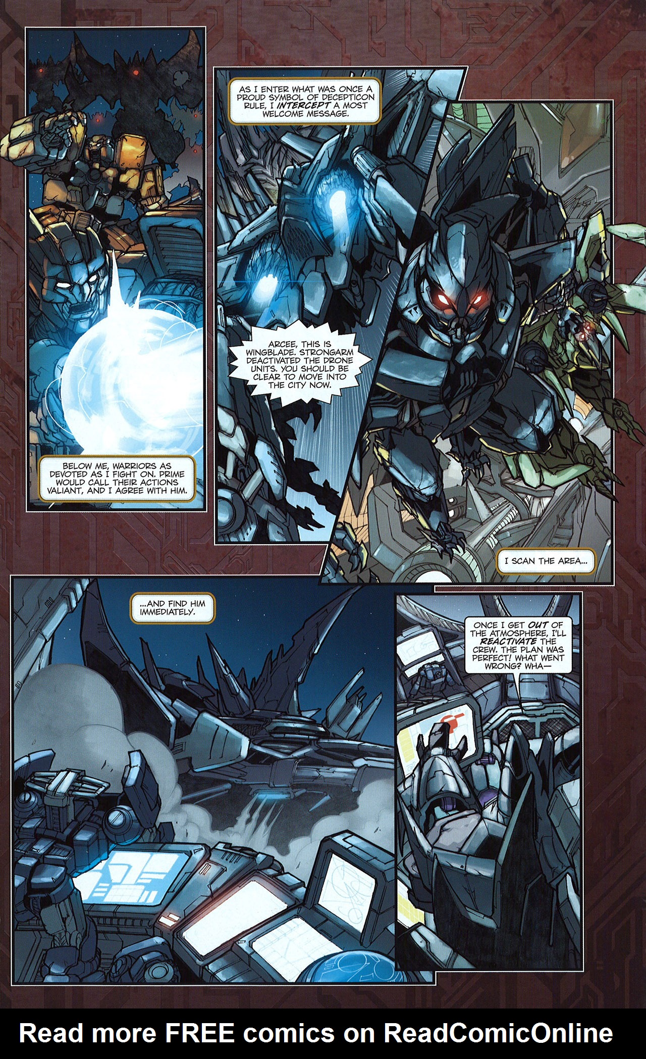 Read online Transformers: The Reign of Starscream comic -  Issue #5 - 19