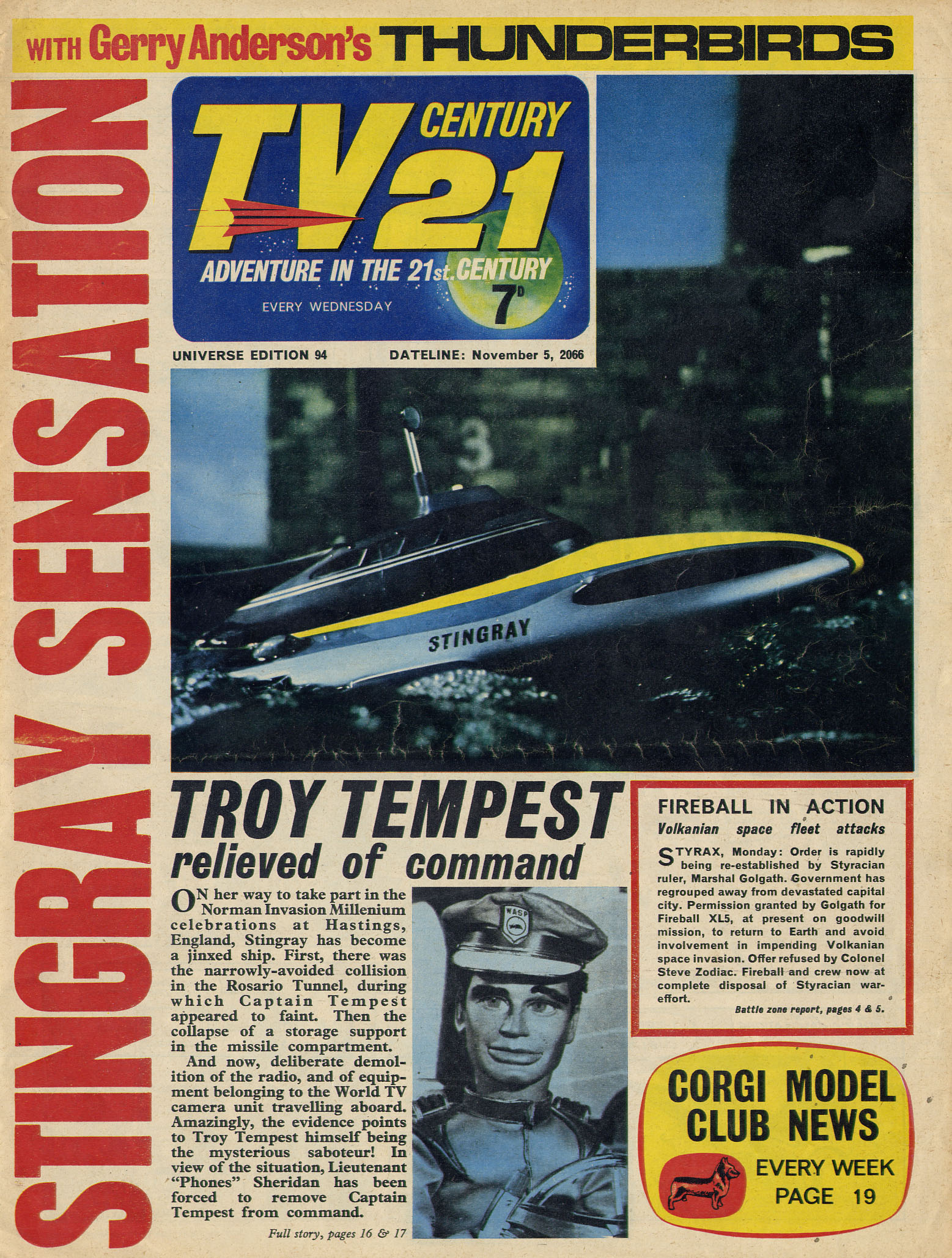 Read online TV Century 21 (TV 21) comic -  Issue #94 - 1