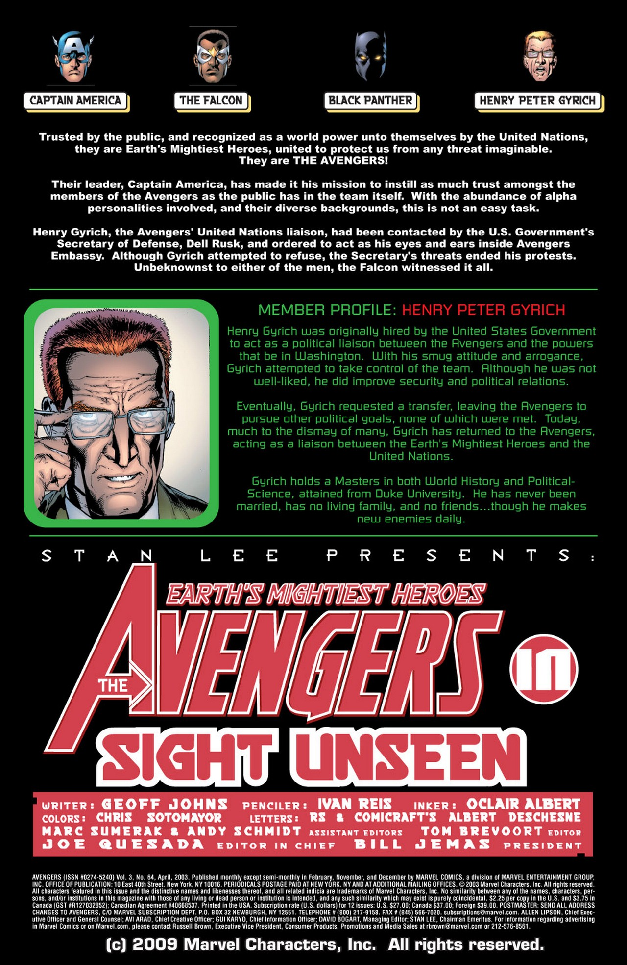 Read online Avengers (1998) comic -  Issue #64 - 2