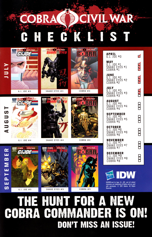 Read online G.I. Joe: Snake Eyes comic -  Issue #3 - 26
