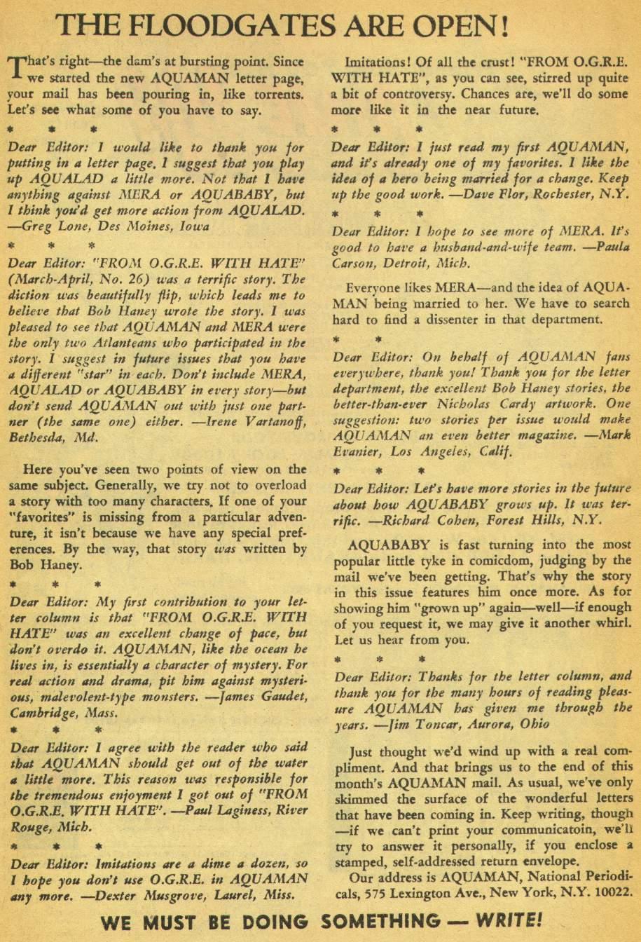 Read online Aquaman (1962) comic -  Issue #28 - 33