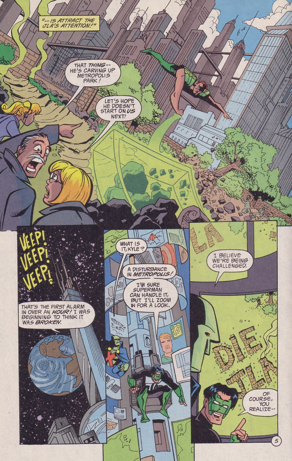 Read online Adventures in the DC Universe comic -  Issue #18 - 6