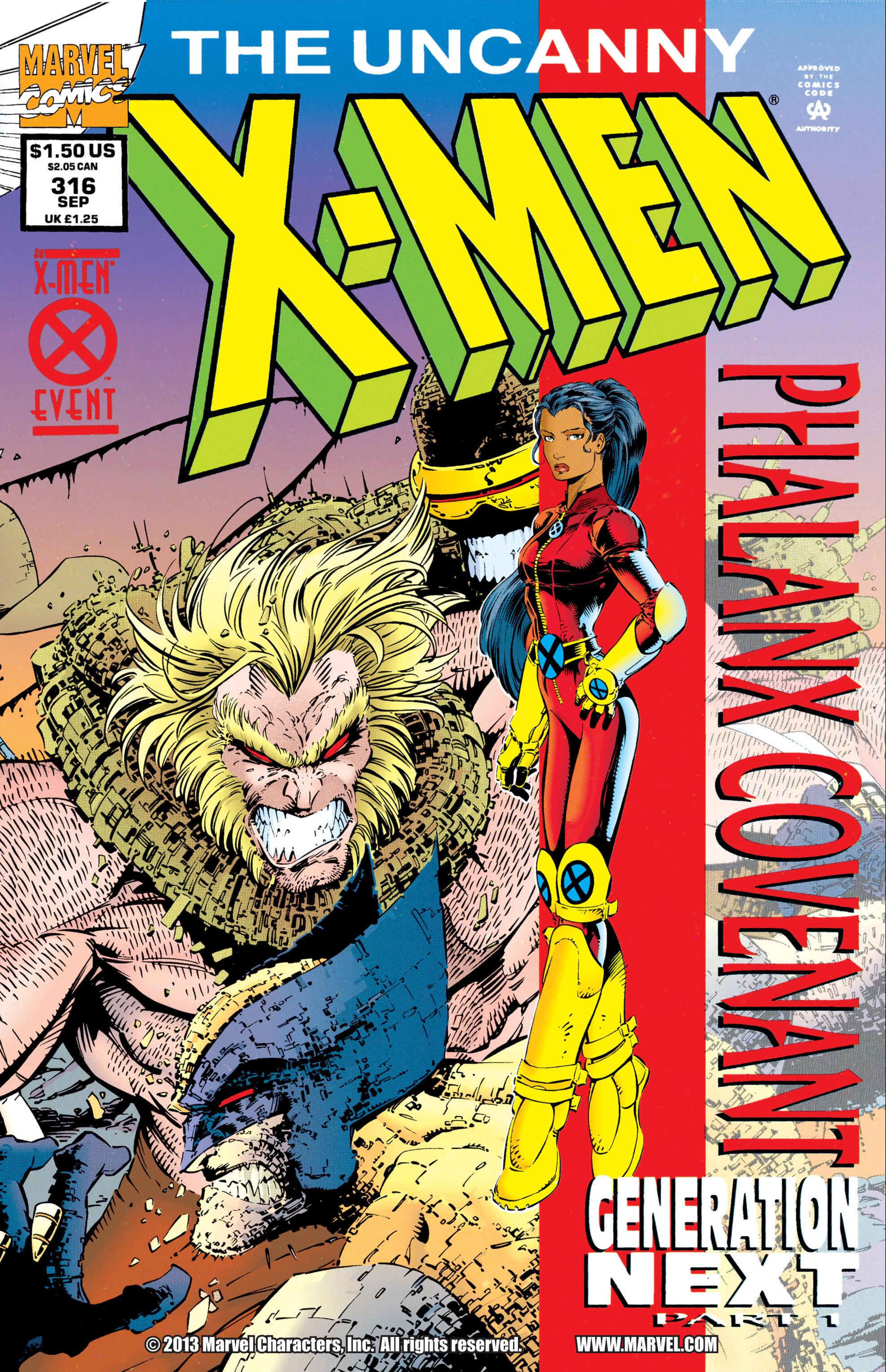 Read online Uncanny X-Men (1963) comic -  Issue #316 - 1