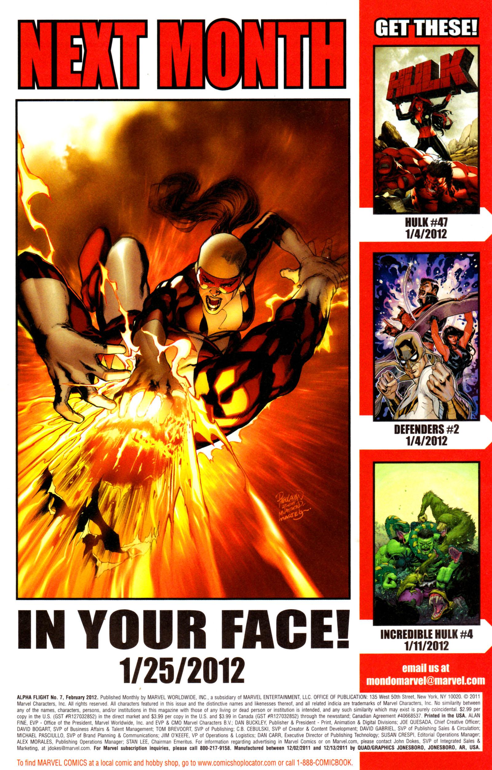 Read online Alpha Flight (2011) comic -  Issue #7 - 23