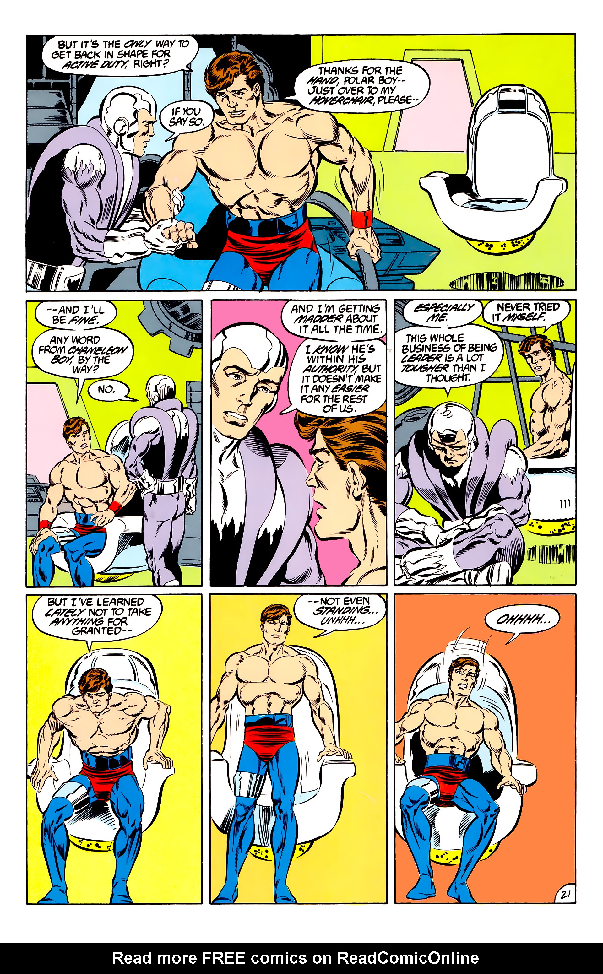 Legion of Super-Heroes (1984) 46 Page 21