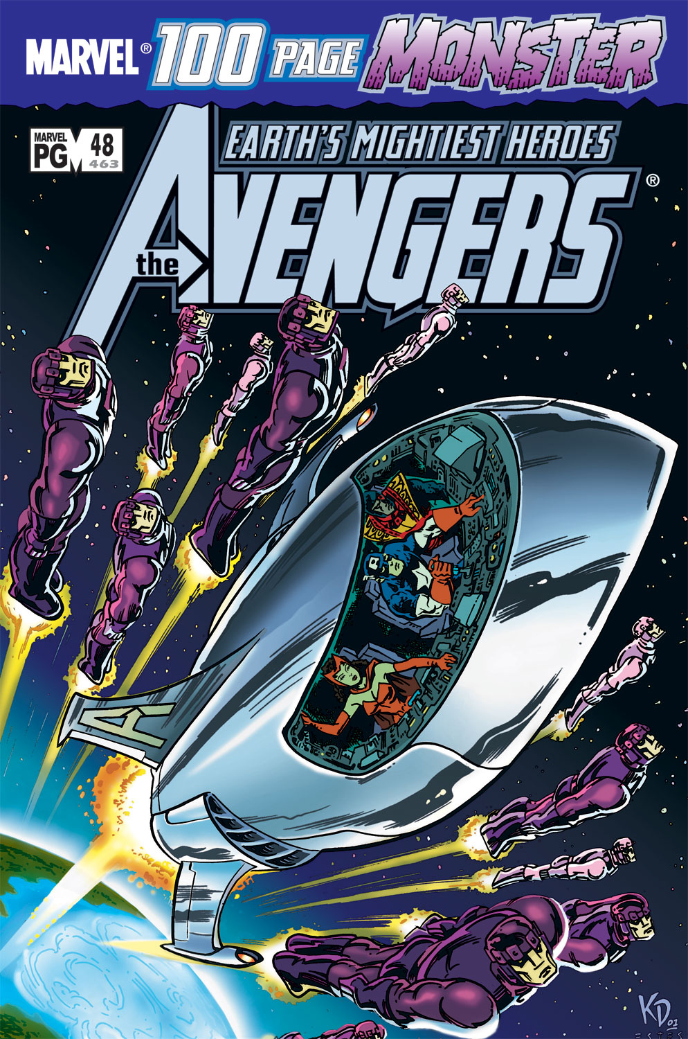 Read online Avengers (1998) comic -  Issue #48 - 1