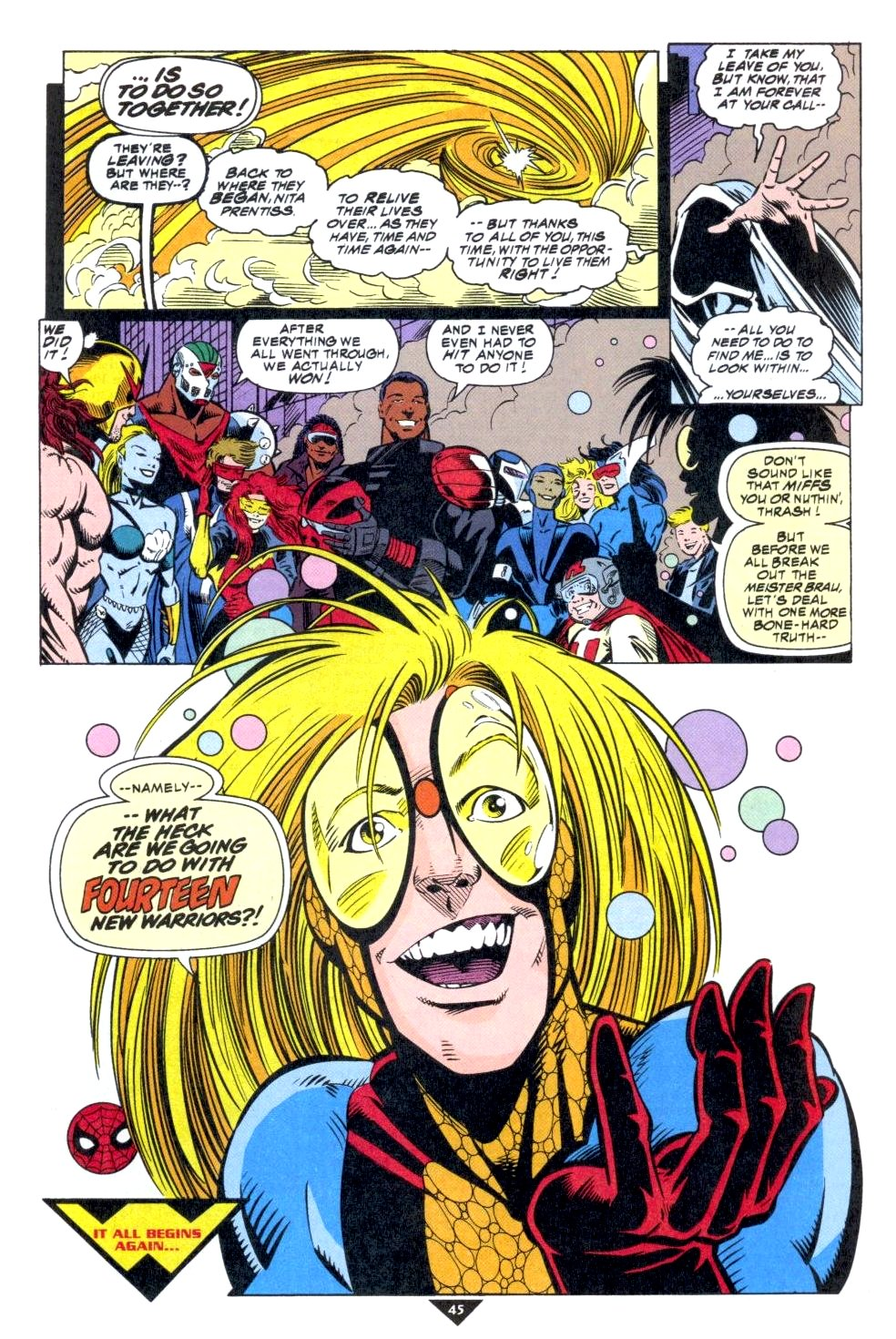 The New Warriors Issue #50 #54 - English 38