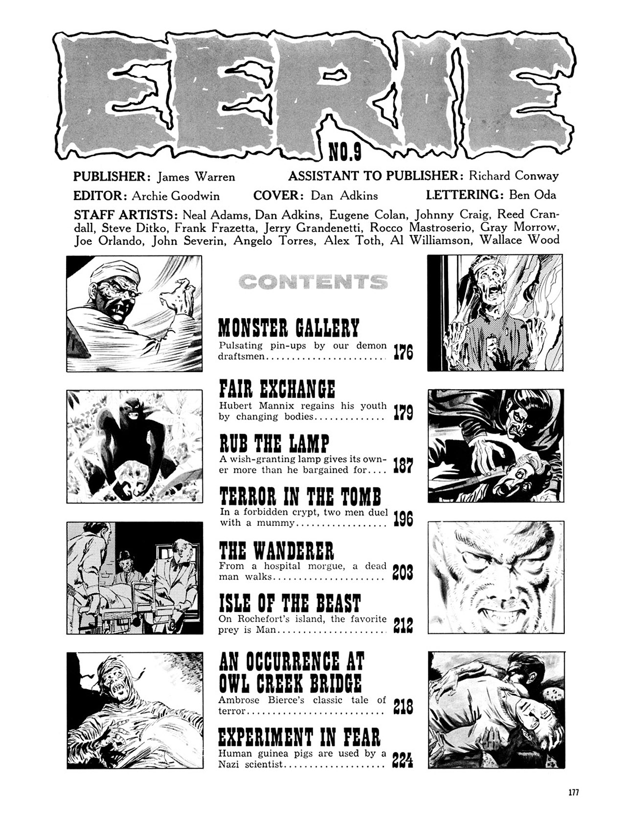 Read online Eerie Archives comic -  Issue # TPB 2 - 178