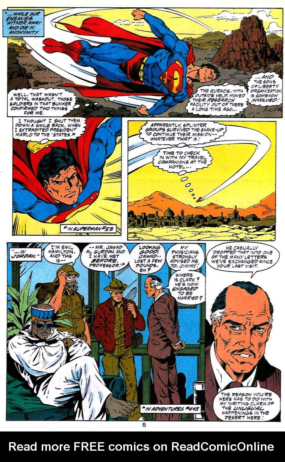 Read online Adventures of Superman (1987) comic -  Issue #490 - 6