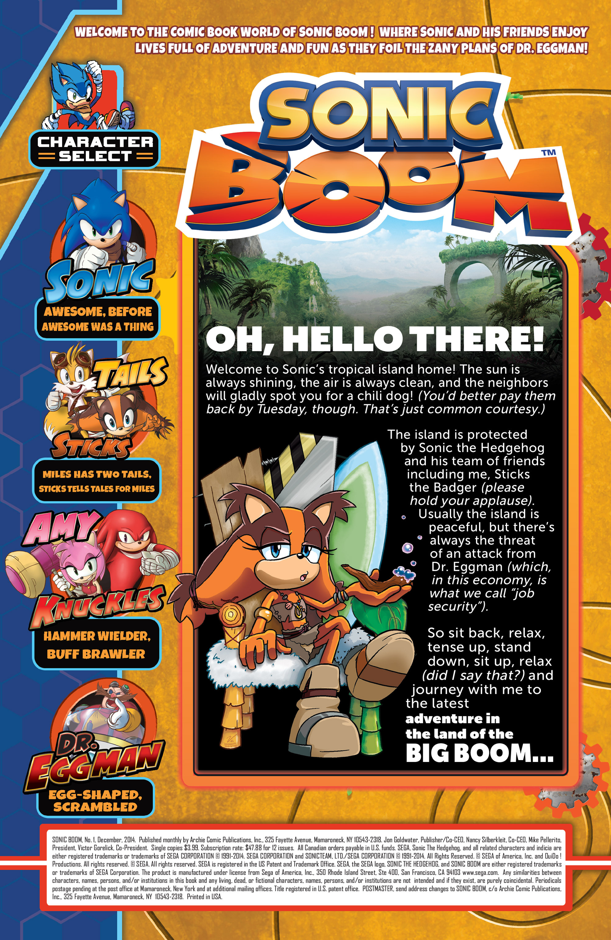 Read online Sonic Boom comic -  Issue #1 - 2